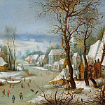 Jan Brueghel The Elder - Winter landscape with bird snaring