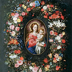 Jan Brueghel The Elder - Virgin and Child in a flower garland