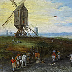 Jan Brueghel The Elder - Windmills on a Broad Plain