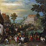Market day in the village, Jan Brueghel The Elder