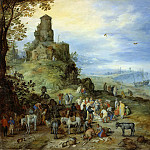 Jan Brueghel The Elder - Coastal Landscape with the Calling of St. Peter and Andrew