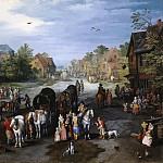 Jan Brueghel The Elder - View of the Village of Schelle (Village street)