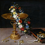 Still life with garland, Jan Brueghel The Elder