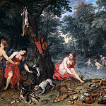 The nymphs of Diana returning from fishing, Jan Brueghel The Elder