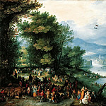 Jan Brueghel The Elder - Landscape with Tobias and the Angel