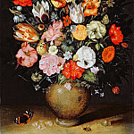 Jan Brueghel The Elder - Vase of Flowers