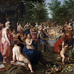 Feast of the Olympian gods, Jan Brueghel The Elder