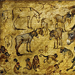 Jan Brueghel The Elder - Studies of Donkeys, Cats, and Monkeys