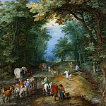 Jan Brueghel The Elder - Busy Forest Track