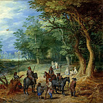 The guards in the forest, Jan Brueghel The Elder