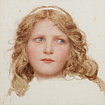 George Lawrence Bulleid - A head study of a young girl