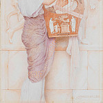 George Lawrence Bulleid - Girl with lute