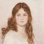 George Lawrence Bulleid - A head study of a young girl with long hair