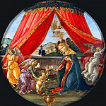 Alessandro Botticelli - The Virgin and Child with Three Angels (Madonna del Padiglione)