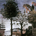 Alessandro Botticelli - The Temptation of Christ, detail