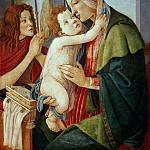 Alessandro Botticelli - Madonna and Child with Saint John the Baptist (workshop)