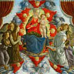 Alessandro Botticelli - Madonna and Child among Angels, with Saints Mary Magdalen and Bernard