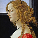 Portrait of an young woman , Alessandro Botticelli
