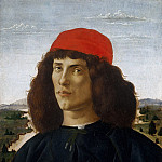 Alessandro Botticelli - Portrait of a Man with a Medal of Cosimo the Elder