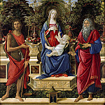 Alessandro Botticelli - The Virgin and Child Enthroned