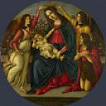 The Virgin and Child with Saint John and Two Angels , Alessandro Botticelli