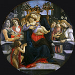 Virgin and Child with Six Angels and the Baptist, Alessandro Botticelli