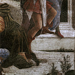 Scenes from the Life of Moses, detail, Alessandro Botticelli