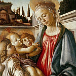 Madonna and Child and Two Angels, Alessandro Botticelli