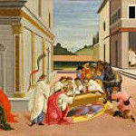 Alessandro Botticelli - Scenes from the Life of Saint Zenobius - Three Miracles of Saint Zenobius