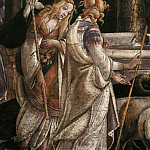Alessandro Botticelli - Scenes from the Life of Moses, detail - Daughters of Jethro