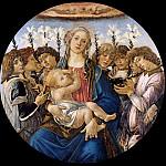 Madonna and Child with Eight Angels, Alessandro Botticelli