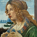 Alessandro Botticelli - Allegorical Portrait of a Woman (Simonetta Vespucci?) (workshop)