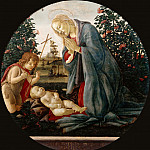 Alessandro Botticelli - Madonna Adoring the Child with the Infant Saint John
