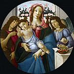 Alessandro Botticelli - THE MADONNA AND CHILD WITH SAINT JOHN THE BAPTIST AND AN ANGEL BEFORE A WINDOW