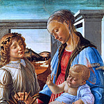 Alessandro Botticelli - Madonna and Child with an Angel (Madonna dell'Eucarestia)