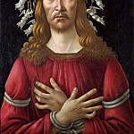 Alessandro Botticelli - Christ as the man of sorrows with a halo of angels