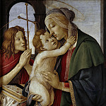 Madonna with Child and the young Saint John, Alessandro Botticelli