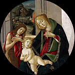 Alessandro Botticelli - Madonna and Child with St. John the Baptist