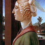 Alessandro Botticelli - Saint Catherine (Portrait of Caterina Sforza as Saint Catherine?)