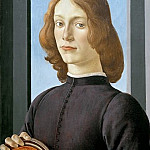 Portrait of a young man with medallion, Alessandro Botticelli