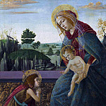 Alessandro Botticelli - The Rockefeller Madonna (Madonna and Child with Young Saint John the Baptist)