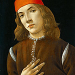Portrait of a young man, Alessandro Botticelli