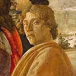 Alessandro Botticelli - The Adoration of the Magi (detail - self-portrait)