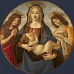 Alessandro Botticelli - The Virgin and Child with Saint John and an Angel (Workshop)
