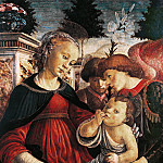 Madonna and Child with two angels, Alessandro Botticelli
