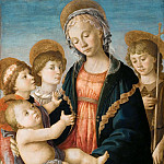 Madonna and Child, Two Angels and the Young St. John the Baptist, Alessandro Botticelli