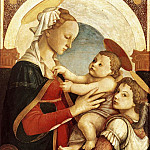 Madonna and Child with an Angel, Alessandro Botticelli
