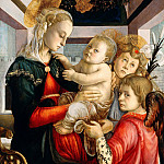 Madonna and Child with Angels , Alessandro Botticelli