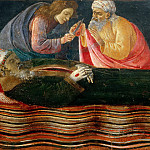 Alessandro Botticelli - San Barnabas Altarpiece, predella - Extraction of St. Ignatius Heart