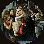 Mary and Child with the boy St. John and two angels , Alessandro Botticelli